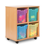 Allsorts 4 Jumbo Tray Storage Unit