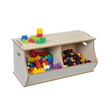 Double Cubby Storage Box