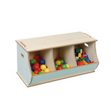Triple Cubby Storage Box