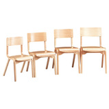 CLASSROOM CHAIR 380MM BEECH