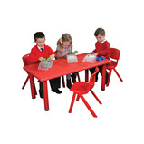 RECTANGULAR TABLE RED 560-590MM H