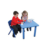 SQUARE TABLE BLUE 480-510MM HEIGHT