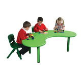 KIDNEY TABLE GREEN 560-590MM HEIGHT