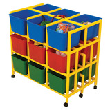 18 Cubby Mobile Storage