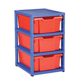 GRATSTACK 6 DEEP TRAYS RED