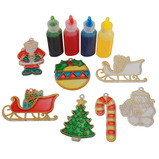 XMAS GLASS PAINTING SET WITH 4 POTS