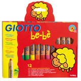GIOTTO BEBE LRGE PENCILS SCHOOL PK36