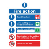 FIRE ACTION NOTICE 148 x 210MM POLY