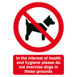 REFRAIN FROM WALKING DOGS 297X210MM