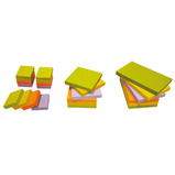 STICKY NOTE RAINBOW 75 X 75MM PK6