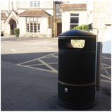 Heritage Round Hooded Litter Bins