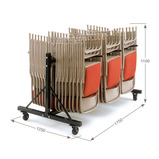 3 Column Low Hanging Storage Trolley