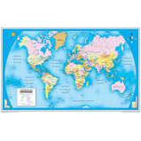 Reversible Map of the World - Physical & Political